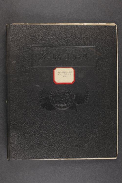 Inaugural for Governor Landon, 1933 - Page