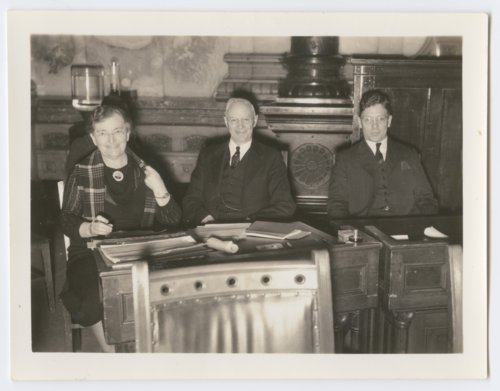 Charles A. and Lula Richard in the Kansas Senate chambers in Topeka, Kansas - Page