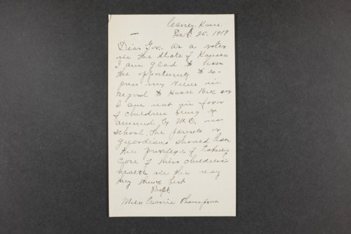 Governor Henry J. Allen, correspondence files, box 14 - Page