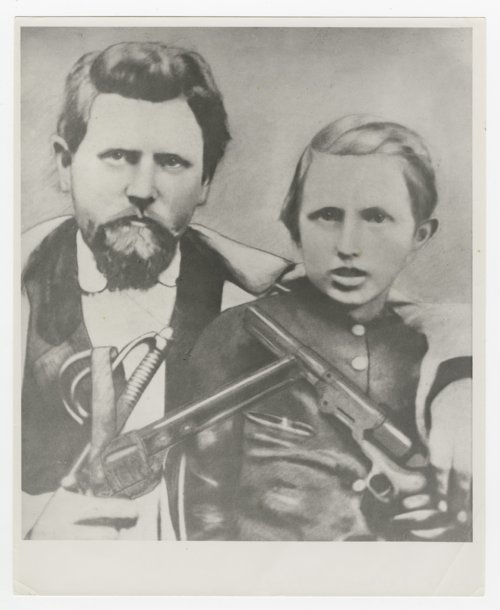 Colonel Samuel N. Wood and his son David Wood - Page