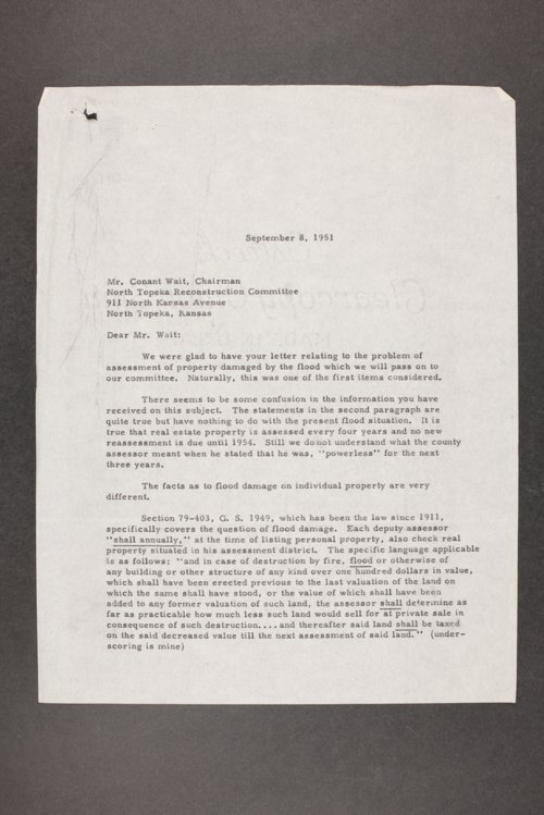 Governor Edward Arn, correspondence files, box 57 - Page