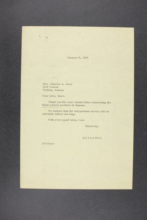 Governor Edward Arn, correspondence files, box 59 - Page