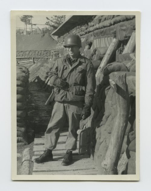 Frank Darrell Timken back from noon chow in Korea - Page