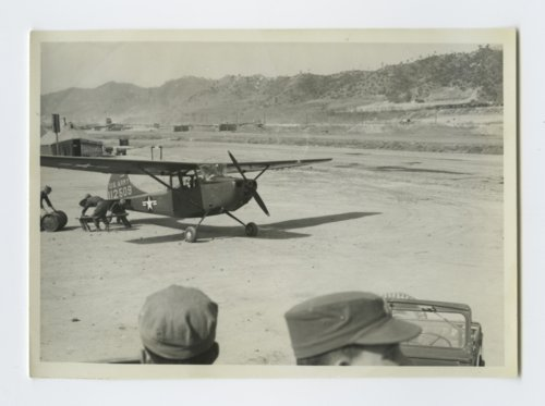 196th Field Artillery Battalion airstrip and observation plane in South Korea - Page