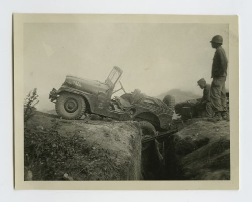 Jeep falling in a trench in South Korea near the Demilitarized Zone - Page