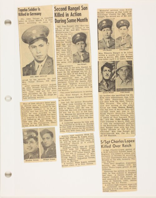 Newspaper clippings on several soldiers during WWII - Page