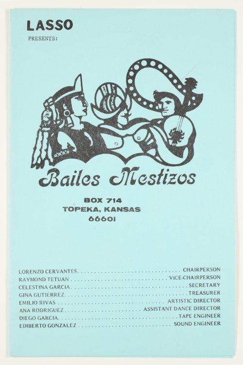 Bailes Mestizos program - Page