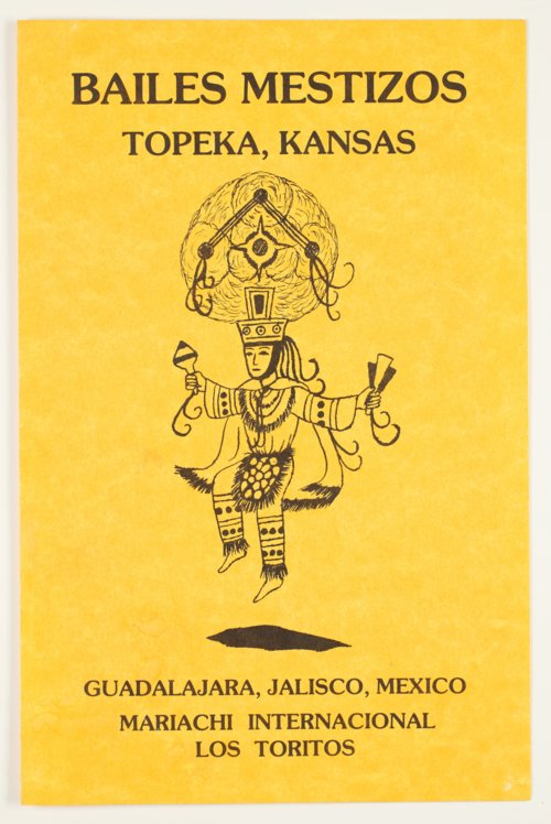 Bailes Mestizos program for a performance at White Concert Hall, Topeka, Kansas - Page