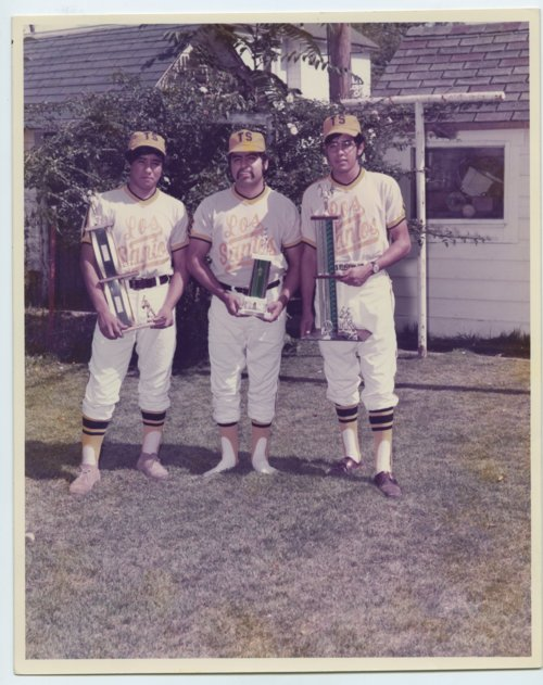 Los Santos baseball team members in Topeka, Kansas. - Page