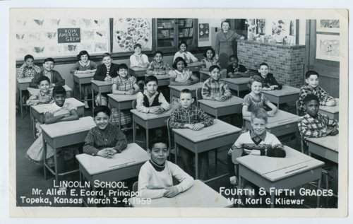 Fourth and fifth grade classes at Lincoln School, Topeka, Kansas - Page