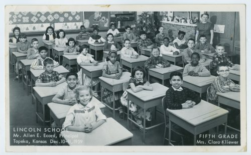 Fifth grade class at Lincoln School, Topeka, Kansas - Page