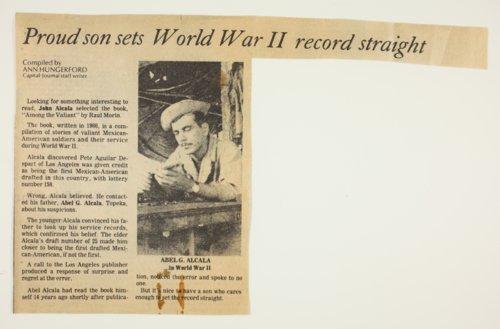Abel Alcala, World War II veteran - Page