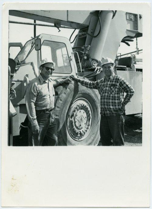 Lemos Lemus and Abel Alcala at the Santa Fe shops, Topeka, Kansas. - Page