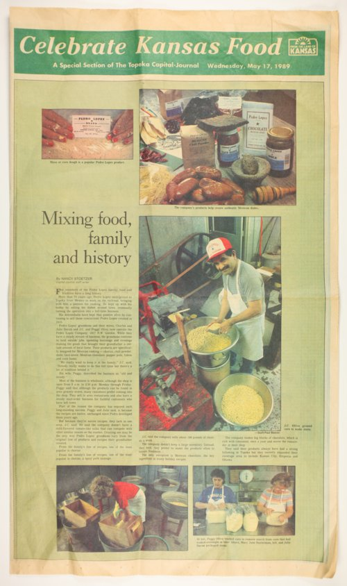 Topeka Capital-Journal article on authentic Mexican dishes - Page