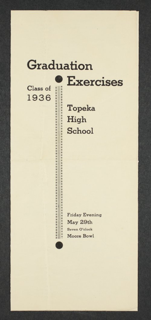 Graduation exercises at Topeka High School in Topeka, Kansas - Page