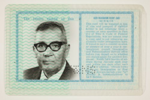 Ramon G. Aguirre's naturalization card - Page