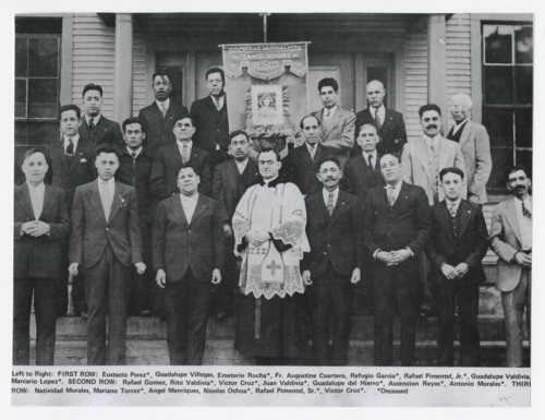 Sociedad Mutualista Del Santo Nombre De Jesus in front of Our Lady of Guadalupe Catholic Church and school - Page