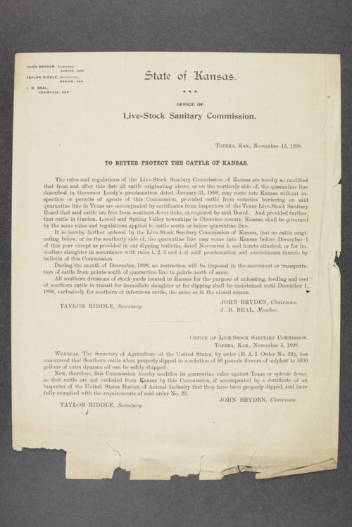 Livestock Sanitary Commissioner's Office, correspondence, 1898-1915 - Page
