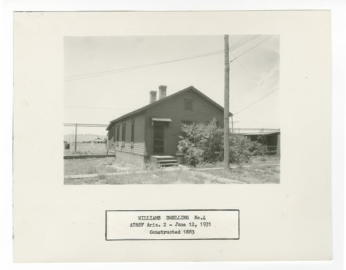 Atchison, Topeka & Santa Fe Railway Company dwelling, Williams, Arizona - Page
