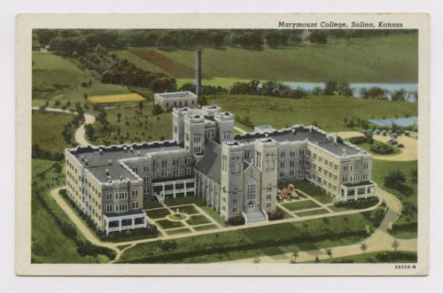 Postcard, Marymount College, Salina, Kansas