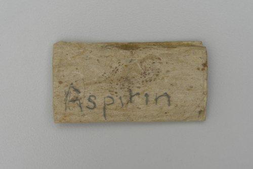 Aspirin wrapper - Page