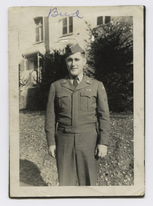 Paul H. Meadows dressed in his Army uniform - Page
