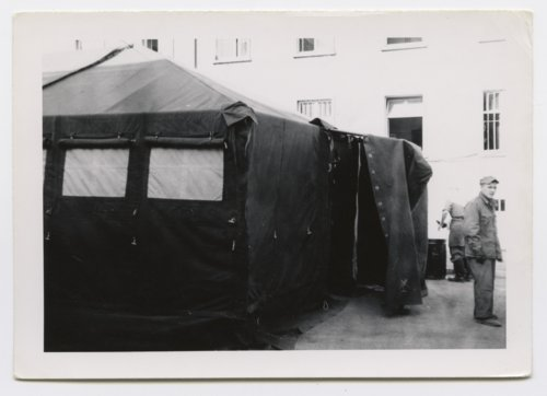 U. S. Army tents used in maneuvers at Baden Ooas, Germany - Page