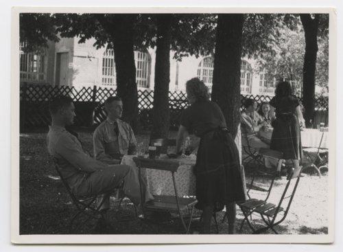 U. S. Army soldiers in outdoor beer garden in Boblingen, Germany - Page