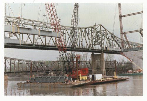 Construction on the Amelia Earhart Memorial bridge at Atchison, Kansas - Page