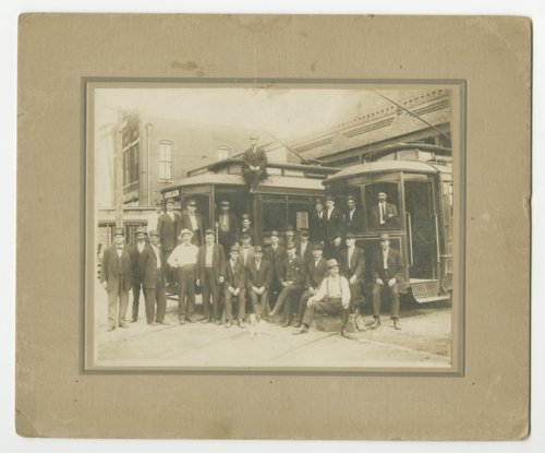 Atchison Railway Light & Power Company motormen in Atchison, Kansas - Page