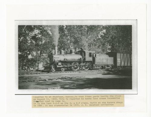 Last Atchison, Topeka & Santa Fe Railway steam locomotive to come through Atchison, Kansas - Page