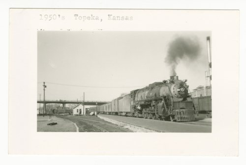 Passenger train near the Union Pacific Railroad depot in Topeka, Kansas - Page
