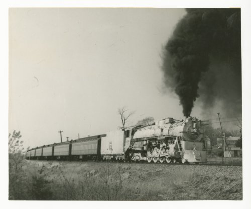 Chicago, Burlington & Quincy locomotive #5632 and passenger train - Page