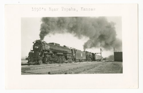Chicago, Rock Island & Pacific Railroad's locomotives and freight train near Topeka, Kansas - Page