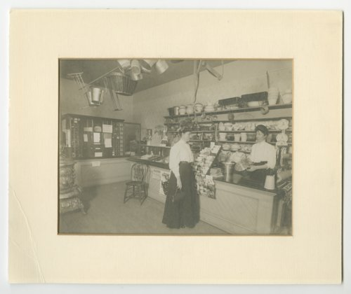 Emily Alice Blunderfield and Mary Elizabeth Blunderfield Jolitz's store in Talmage, Kansas - Page