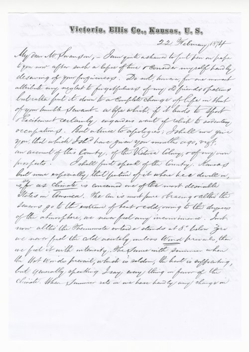 Letter from Ben Davidson to J. C. Swanson - Page