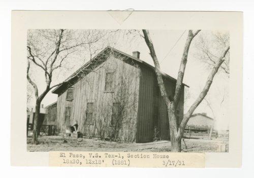 Atchison, Topeka & Santa Fe Railway Company section house, El Paso, Texas - Page