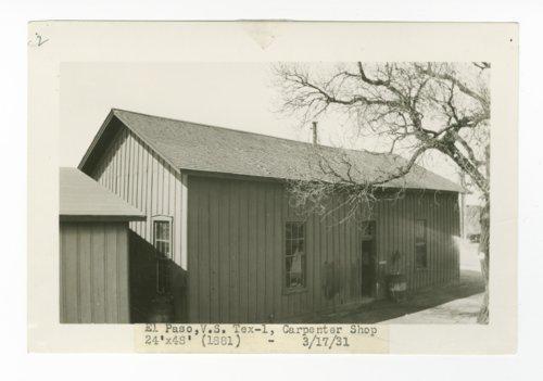 Atchison, Topeka & Santa Fe Railway Company's carpenter shop, El Paso, Texas - Page