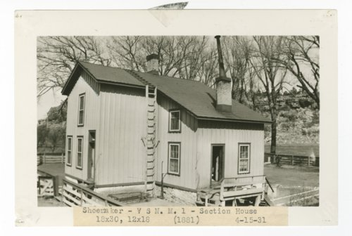 Atchison, Topeka & Santa Fe Railway Company section house, Shoemaker, New Mexico - Page
