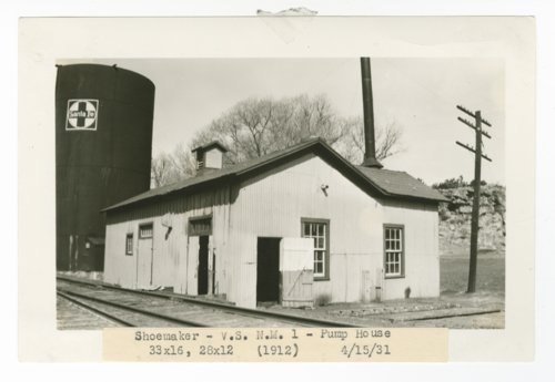 Atchison, Topeka & Santa Fe Railway Company pump house, Shoemaker, New Mexico - Page