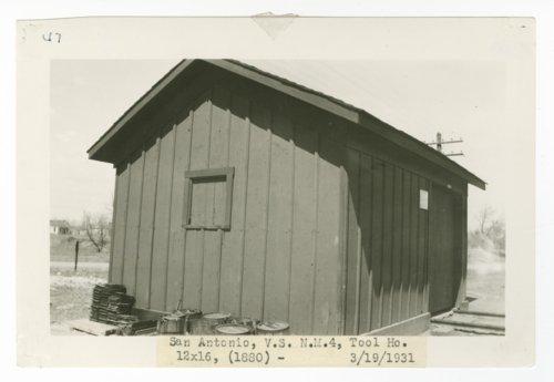 Atchison, Topeka & Santa Fe Railway Company tool house, San Antonio, New Mexico - Page