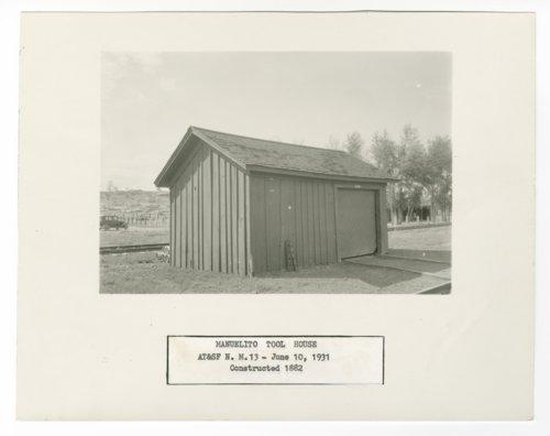 Atchison, Topeka & Santa Fe Railway Company tool house, Manuelito, New Mexico - Page