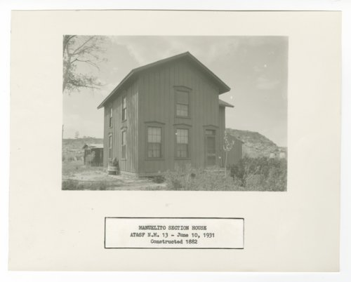 Atchison, Topeka & Santa Fe Railway Company section house, Manuelito, New Mexico - Page