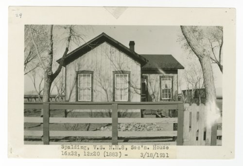 Atchison, Topeka & Santa Fe Railway Company section house, Spalding, New Mexico - Page