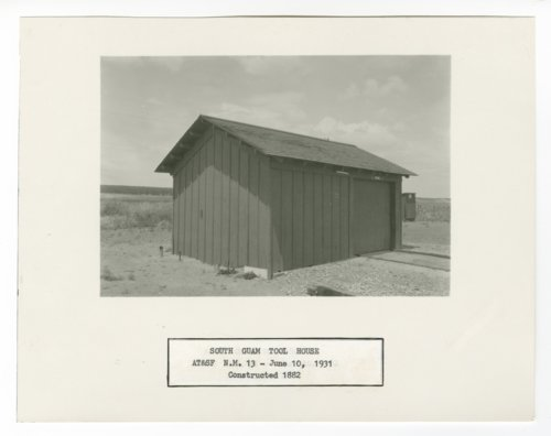 Atchison, Topeka & Santa Fe Railway Company tool house, South Guam, New Mexico - Page