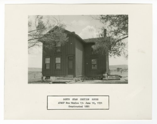 Atchison, Topeka & Santa Fe Railway Company section house, South Guam, New Mexico - Page
