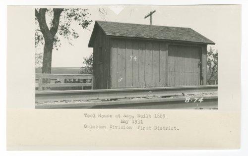 Atchison, Topeka & Santa Fe Railway Company tool house, Asp, Oklahoma - Page