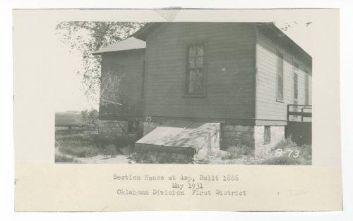 Atchison, Topeka & Santa Fe Railway Company section house, Asp, Oklahoma - Page