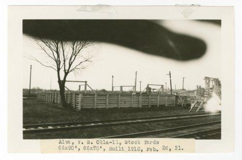 Atchison, Topeka & Santa Fe Railway Company stock yards, Alva, Oklahoma - Page