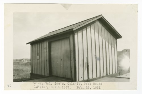 Atchison, Topeka & Santa Fe Railway Company tool house, Belva, Oklahoma - Page